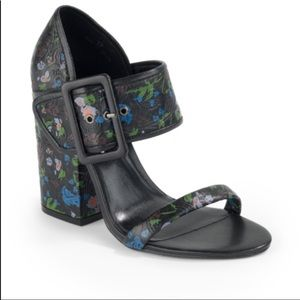 Cynthia Rowley Floral Block Heel Sandal 37.5